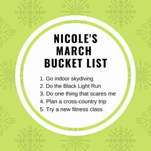 MArch-Bucket-list
